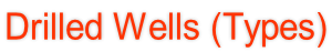 Drilled Wells (Types)